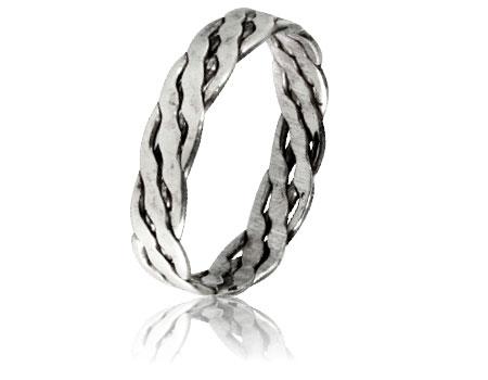 Moesmycken.se - Handgjorda ringar, halsband och örhängen - Ring Fläta